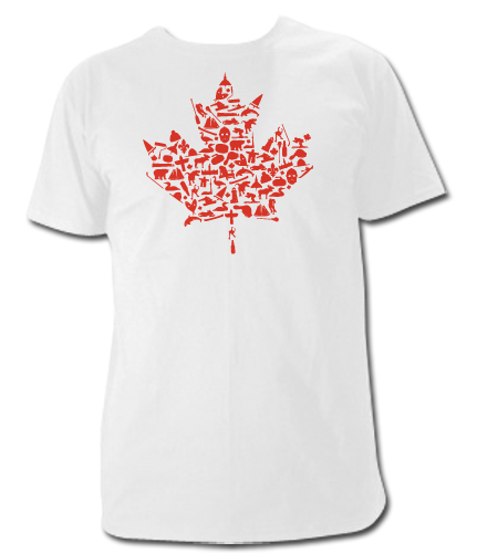 "Canadian ""Things"" Maple Leaf T Shirt"